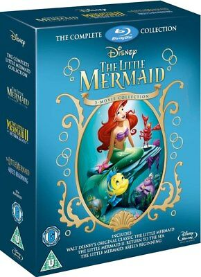 Little Mermaid Trilogy 1-3 Movie Collection Blu-Ray Box Set Disney NEW *