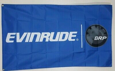 Evinrude Banner 3x5 Ft Flag Advertising Man Cave  Wall Decor BRP Outboard Motors