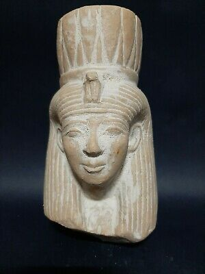Rare Ancient Egyptian Antiques Queen NEFERTARI Ramses II Wife Stone 1279-1213 BC