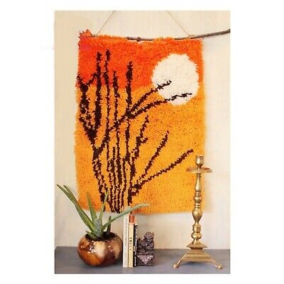 SUNSET GLOW LATCH HOOK RUG KIT from UK Seller, BRAND NEW