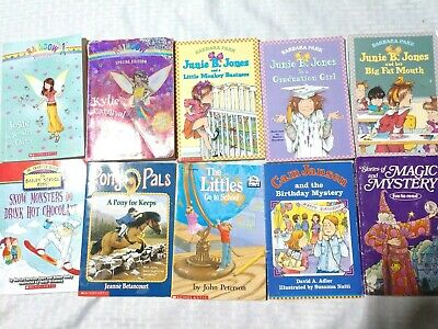 Mixed Lot Younger Children's Chapter Books Book Lot Bundle of 10