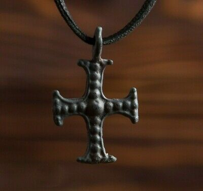 Authentic Medieval Knights Templar Cross 12th-13th century AD Relic necklace