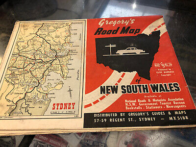 Gregory's Road Map Vintage NSW