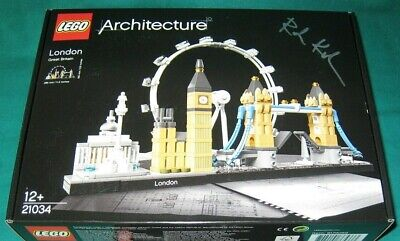 "LEGO 21034 Architecture ""LONDON SKYLINE"" Rare Signed By Designer Limited Edition"