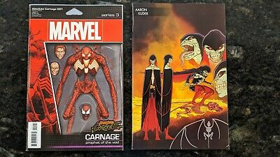 Absolute Carnage #1 Action Figure Variant & Young Guns Lot 2019 NM