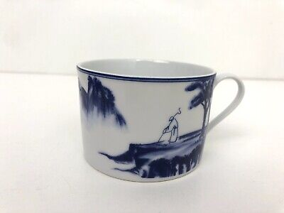 Canton Blue and White Hand Painted Porcelain Cup