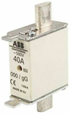 ABB 40A 0 HRC Centred Tag Fuse, gG, 500V 1SCA022627R1120