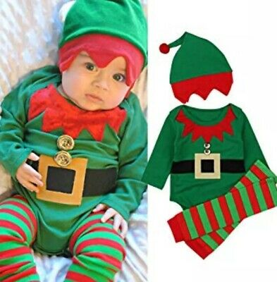 NEW! Kids Baby Boy/Girl CUTE Elf Christmas Outfit Size 6/12 Months By: Rory chen