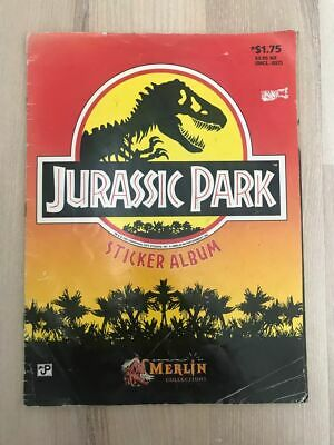 1992 MERLIN COLLECTION - Jurassic Park Sticker Album with over 50 Stickers