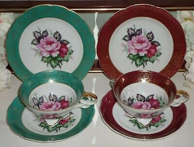 Vintage Pair of Trio's Cup Saucer And Side Plate