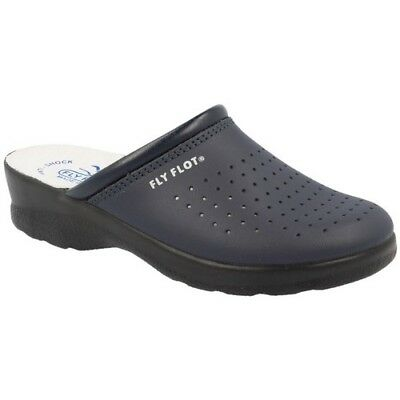 Fly Flot 311 Slippers Health Hoof Woman Real Leather Blue Art. 85094