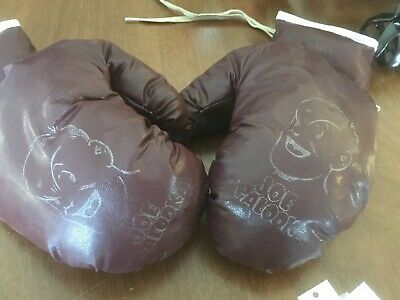 "VINTAGE 1950's JOE PALOOKA 9"" PAIR KIDS BOXING GLOVES 6.1 oz. each GREAT COND."