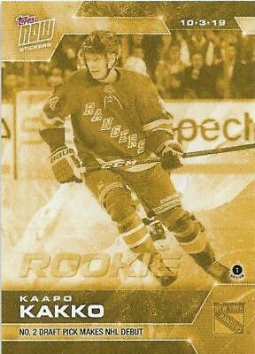 2019-20 Topps Now Hockey Stickers Gold Parallel #5G Kaapo Kakko Rc