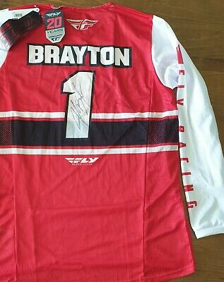 New Justin Brayton Signed Supercross Jersey and Hat
