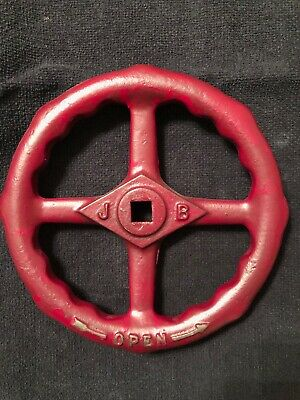 Cast Iron Water Valve Faucet Handle Industrial Knob STEAMPUNK 8 inches