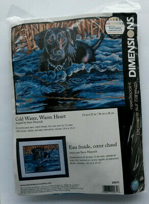 """Dimensions  """"Cold Water, Warm Heart"""" ~ #20071 ~ Tapestry Kit ~ Canvas & Threads"""