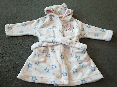 Peppa Pig Dressing Gown Age 1-1&1/2