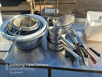 Bakery Equipment Job Lot Bowls Seives Pans Etc