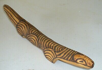 Vintage Aboriginal carved Goanna with Pokerwork