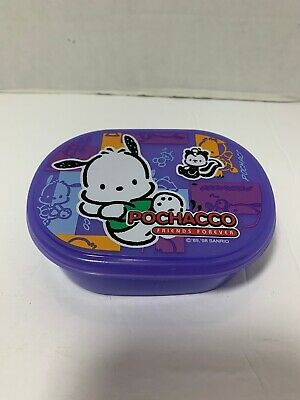 Vintage Sanrio Co Pochacco Friends Forever 90s 1998 Plastic Purple Case Box 4.5""