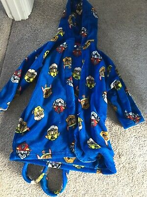 Next Boys Paw patrol Dressing Gown Size 4-5 Years Blue Chase Rubble Marshall
