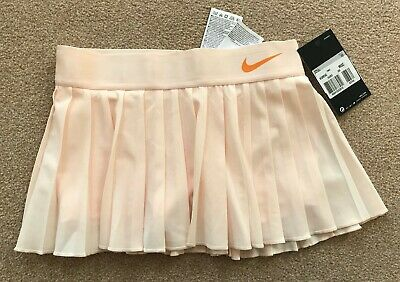 NIKE GIRLS COURT victory TENNIS skirt SIZE XS 6-8 YEARS peach BNWT