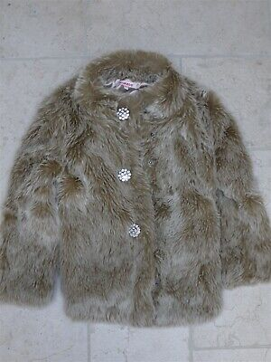 Blue Zoo Fluffy Faux Fur Girls Winter Jacket For Age 6