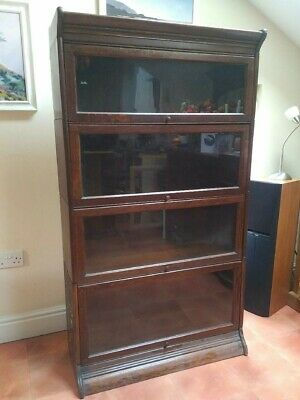 Solicitor's or Lawyer's Bookcase not Globe Wernicke in Dark Stained Timber