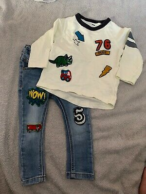 Boys Next Age 12-18 Months Skinny Jeans And Top Outfit