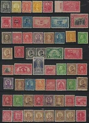Old US Stamp Collection - Scott # 599 // 688 - 57 Different!! All Mint MNH & MH