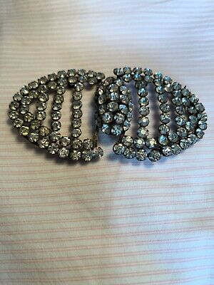 Vintage 1920/30 Buckle Diamante Clip, Perfect Excellent Condition