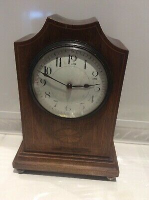 French Edwardian ?? Wooden Mantle Clock