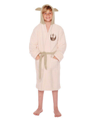 Official Star Wars Yoda Childrens Hooded Dressing Gown / Bathrobe - 10-12 Years