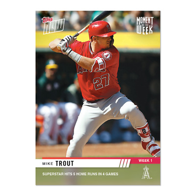 2019 Topps Now MOW #1-31 White Winners Moment of the Week Complete Set of Cards