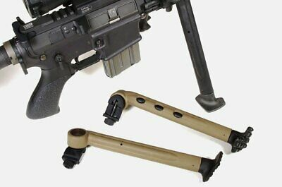 Pair of Side Mounted Bipod Leg Set - Black / Tan