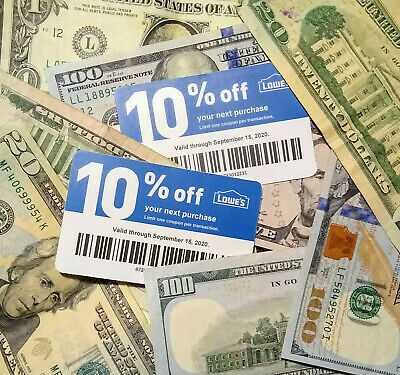 $ave 20x LOWES Coupons 10% OFF @ Competitors ONLY-Home Depot Exp 10-15 Plz Read