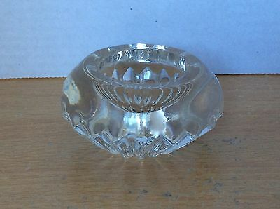 Small Solid Glass Candle Holder