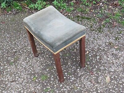 RARE ORIGINAL KING GEORGE VI CORONATION STOOL 1937 LIMED OAK Free delivery