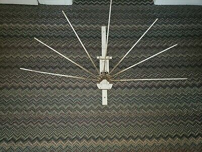 Vintage Antique Primitive Wooden 7 Arm Wall Mount Drying Rack Laundry Clothes