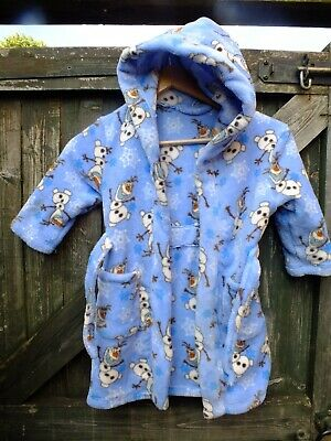 Mothercare Childs Hooded Dressing Gown Size 2/3 Years