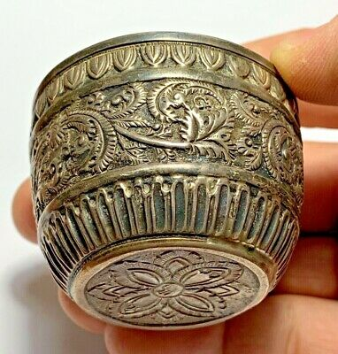 MUSEUM QUALITY LATE MEDIEVAL SILVER BOWL - INSCRIPTION 17-18 CENTURY 32.8gr 56mm