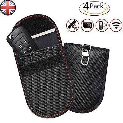Car Key Signal Blocker Case Pouch Bag Black / Faraday Cage Keyless RFID Blocking