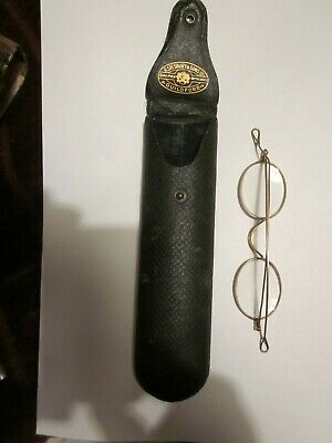 1920's Wire Rimmed Spectacles in original case