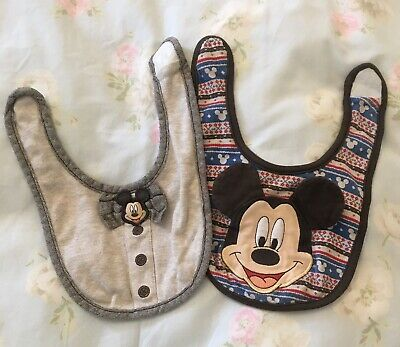 Set Of 2 Disney Shop Mickey Mouse Bibs