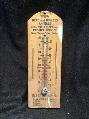 Antique Advertising Sign Thermometer