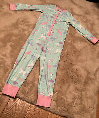 Girls All-in-one Pjs Unicorns Aged 7-8 Yrs