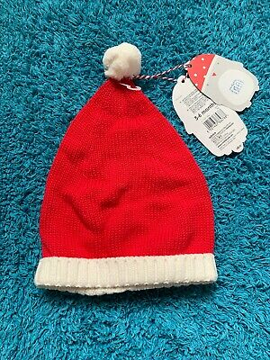 Knitted Santa Hat Mothercare,Age 3-6 Moths,Brand New With Tags,Unwanted Gift