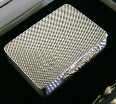 Quality Solid Sterling Silver & Gold Gallagher Snuff Box 1997 Cased Mint