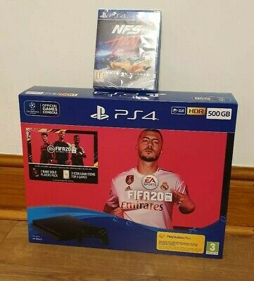 Playstation 4 500GB PS4 & Fifa 20 NFS Need For Speed Heat Bundle Brand Sealed