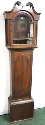 Antique English Inlaid Oak Longcase Grandfather Clock Case Only, Clock Spares